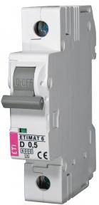 Автоматичний вимикач ETI Etimat 6, 1р, 0.5А, C