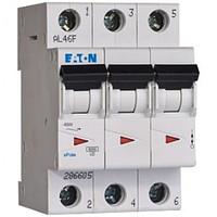 Автоматичний вимикач EATON PL4-C6/3, 3р, 6А, C