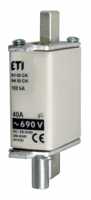 Запобіжник з індикатором NH-1/K gG KOMBI 125A 690V, ETI