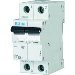 Автоматичний вимикач EATON PL4-C40/2, 2р, 40А, C