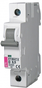Автоматичний вимикач ETI Etimat 6, 1р, 1А, C
