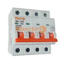 Автоматичний вимикач Electro ВА1-63, 4р, 40А, C